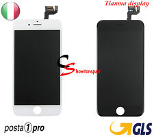 TOUCH 3D SCREEN VETRO LCD DISPLAY RETINA SCHERMO FRAME PER APPLE IPHONE 6S B / N