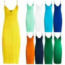 Womens Celebrity Strappy Bodycon Wrap Cross Over Midi Dress Ladies Summer Casual