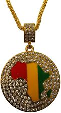1326078987291g jamaican african continent round pendant choker necklace hip hop crystal unisex aloadofball Choice Image