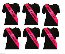 BRIGHT PINK HEN PARTY SASH SASHES GIRLS DO NIGHT OUT ACCESSORIES BRIDE TO BE