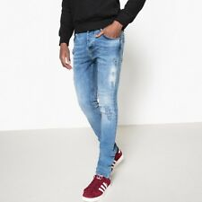 La Redoute Collections Mens Distressed Slim Fit Jeansnbsp