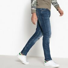 La Redoute Collections Mens Distressed Slimfit Jeans