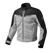 REV'IT! AIRWAVE 2 TEX GIACCA MOTO SILVER BLACK REV IT REVIT tutte le misure