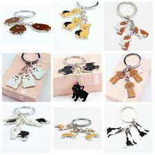 Creative Cute Lovely Animal Pet Dogs Charm Car KeyChain Key Chain Ring Gift