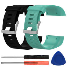 Replacement Silicone Wristband Strap Watch Band Bracelet + Tool For Fitbit Surge