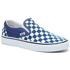 Vans Classic Slip On (Checkerboard) Estate Blue/True White Unisex Shoes