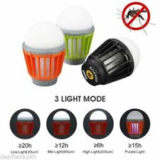 Impermeable LED Cámping Linterna Ligero Insecto Trampa Mosquito Asesino Zapper