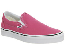 Womens Vans Vans Classic Slip On Trainers Hot Pink True White Trainers Shoes