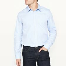 La Redoute Collections Mens Slim Fit Cotton Shirt With Herringbone Motif