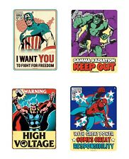 Genuine Marvel Comics Small A5 Steel Sign Tin Wall Door Plaque Art Retro