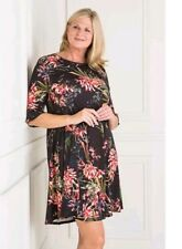 Styled By black Floral Fit And Flare frill Dress S 8-10,M 12-14,XL-20-22 uk,NEW