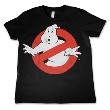 T-shirt Ghostbusters Distressed Logo vintage Kids maglia Bambino by Hybris