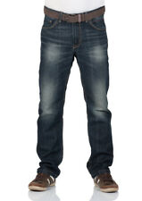Tom Tailor Herren Jeans Trad Relaxed Fit - Blau - Dirty Dark Stone Wash
