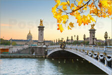 Reproduction sur toile Pont Alexandre III in autumn
