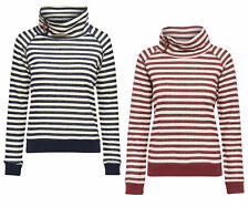 Mujer Sudadera Jersey onlsian L/S highneck SWT Rayas Jersey Con Capucha
