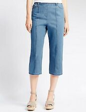 Blue cropped jean look trousers in size 8 from Marks and Spencer new