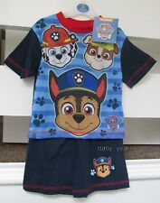 BOYS SHORT SUMMER PYJAMAS PAW PATROL SHORT SLEEVED CHILDRENS CHARACTER SLEEPWEAR