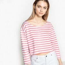 La Redoute Collections Womens Cropped Striped Tshirtnbsp