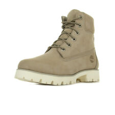 Chaussures Boots Timberland femme Heritage Lite 6 in taille Gris Grise Cuir