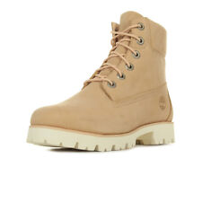 Chaussures Boots Timberland femme Heritage Lite 6 in taille Rose Cuir Lacets