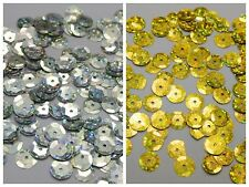 2000 Silver Gold Hologram 10mm CUP round loose sequins Paillette sewing Wedding