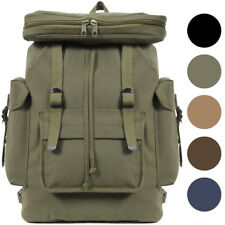 European Rucksack Canvas Backpack German Type Knapsack Army Military School Bag