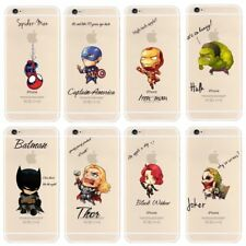 Super Hero iPhone Clear Cases for iPhone 5/6/7 Cartoon Marvel Avengers Justice L