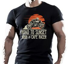 Road To Sunset - Mens Motorbike T-Shirt Biker American Motorcycles Bike