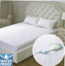 WATERPROOF QUILTED MATTRESS PROTECTOR EXTRA DEEP - ALL SIZES  , NO NOISE
