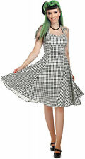 Collectif LORI Gingham Vintage Sweetheart Neckholder SWING Dress Kleid Rockabill