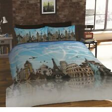 ALL AROUND WONDERS OF THE WORLD DUVET QUILT COVER TAJ MAHAL BEDDING LINEN SET