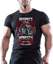 Respect Is Earned  Mens Road Custom Motorbike T-Shirt Biker American Motorcycles