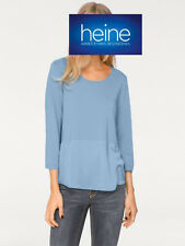 B.C. BEST CONNECTIONS by Heine Shirtbluse, hellblau. NEU!!! KP 39,90 € SALE%