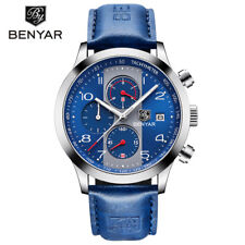 2018 BENYAR Fashion Men Japan Quartz Movement Wrist Watch Leather Band Sport Men