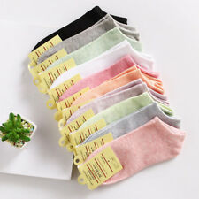 Women Girls Soft Breathable Cotton Low Cut Socks Casual Boat Socks  Candy Color