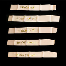 Rose Gold Bride To Be Satin Sash Girls Night Hen Night Out Party Sash Wedding DS