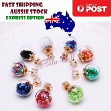 16mm Multicolour Glass Crystal Stud Earring Stars Double Sided Pearl Earrings