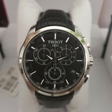 BRAND NEW TISSOT COUTURIER CHRONOGRAPH BLACK LEATHER STRAP WATCH T0356171605100