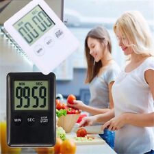 Black/White Magnetic LCD Digital Kitchen Timer Count Up Down Egg Cooking Alarm
