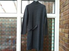BNWT Whistles Side Tab Knit Sweater Dress Grey S rrp£160 wool&cashmere