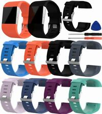 Silicone Rubber Sport Watch Band Wristband Strap Bracelet/Tool For Fitbit Surge