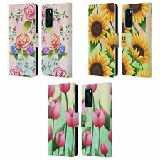 HEAD CASE DESIGNS ORGANIC FLORALS LEATHER BOOK WALLET CASE FOR HUAWEI PHONES
