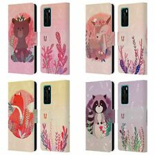 HEAD CASE DESIGNS WOODLAND ANIMALS LEATHER BOOK WALLET CASE FOR HUAWEI PHONES