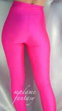 MADAME FANTASY HIGH WAISTED NEON PINK OPAQUE SPANDEX FOOTED LEGGINGS M L XL XXL