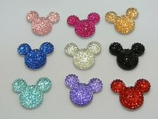 20 Flatback Resin Rhinestone Mouse Head Gem Cabachons 24X20mm Color for Choice