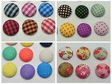 50 Mixed Color Fabric Covered Round Flatback Cabachons 12mm 15mm Bows Center DIY