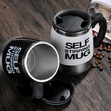 Stainless Steel Automatic Coffee Mixing Cup with Lid Self Stirring Mug