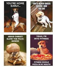 Retro Animal Humour Quote Fridge Magnet Gift Funny Novelty Dogs Pets Memes