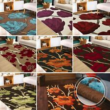 X Large Soft Hand Carved Floral Dense Pile Area Rugs Modern Mats Carpet Rug Mat