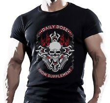Daily Dose Iron Supplement - Mens Motorbike T-Shirt Biker Motorcycles Bike